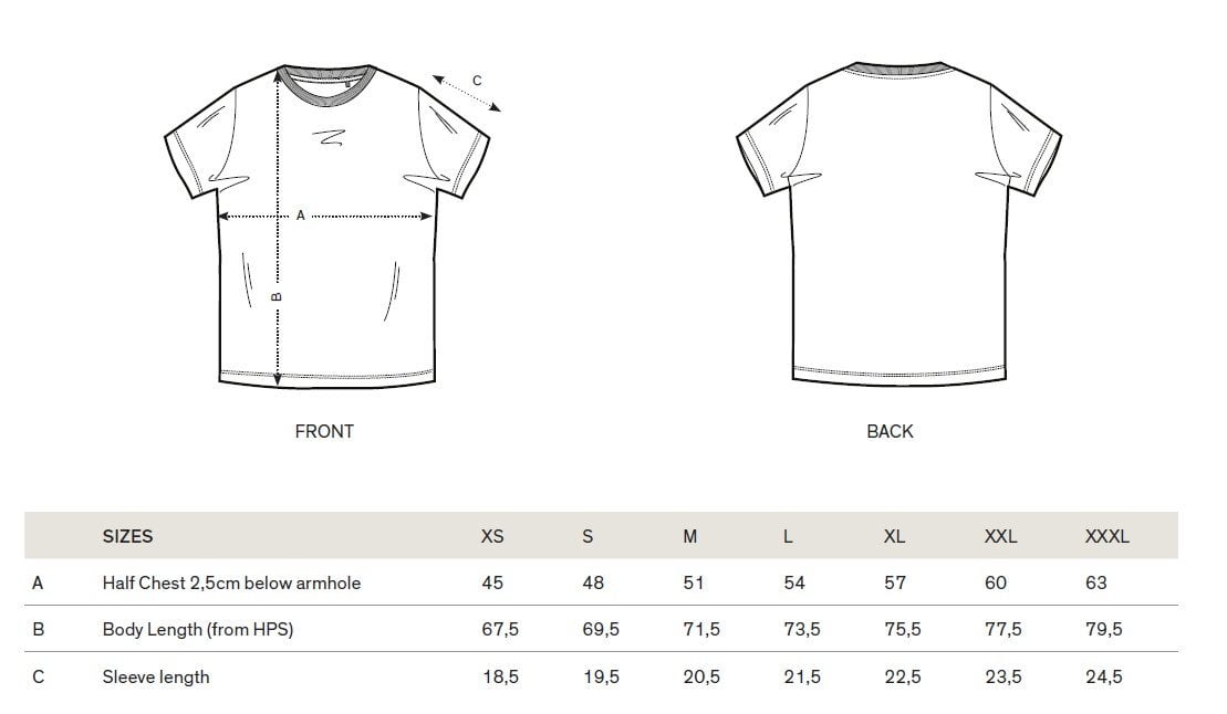 fausto coppi tees size guide